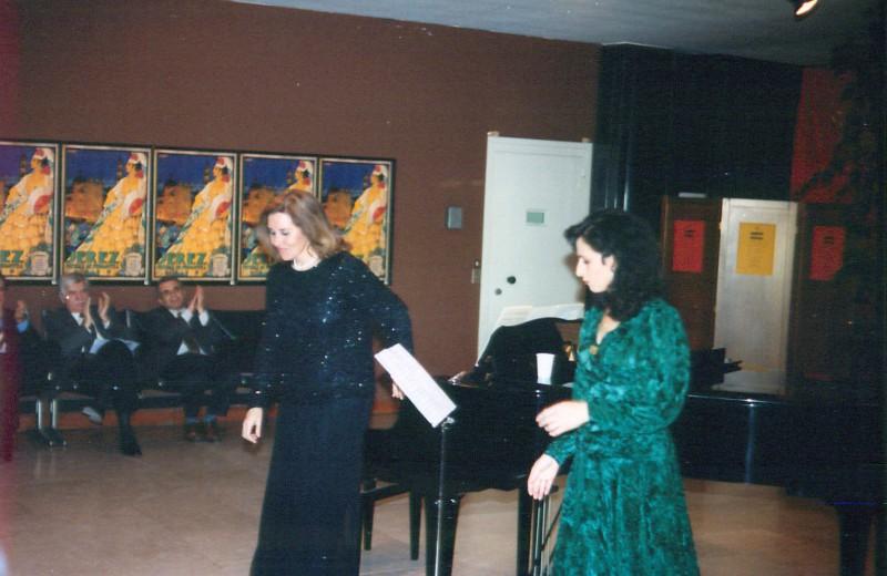 Con la pianista Marisa Arderius